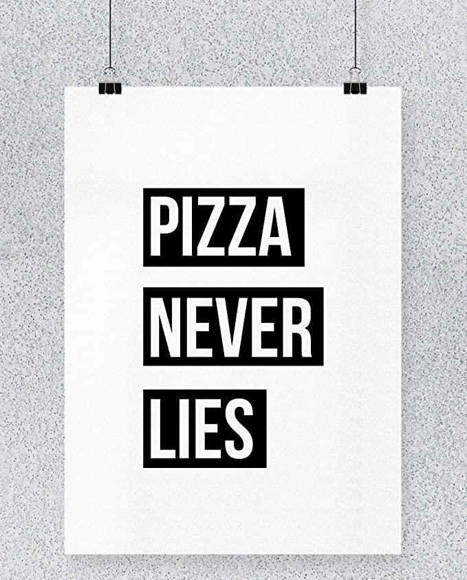 Compra Hippowarehouse Pizza Never Lies Cartel Impreso Pared ...