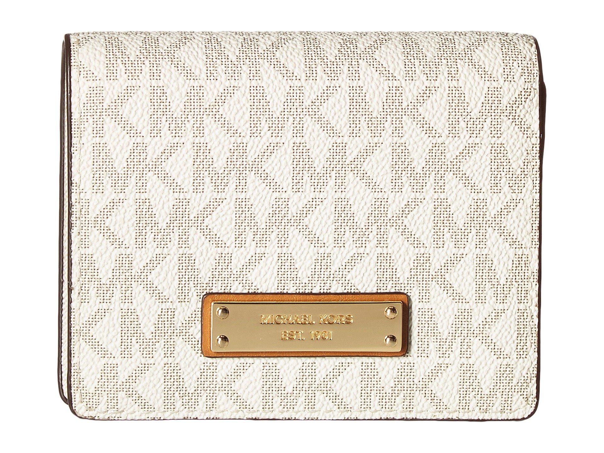 Michael Kors Jet Set Card Holder- Vanilla