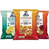 Quaker Rice Crisps, Gluten Free, 3 Flavor Savory Variety Mix, Single Serve 0.67oz, 30 count (00030000564646)