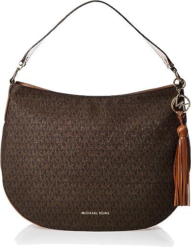 Michael Kors MICHAEL by Brooke sac à main en cuir marron, sac à bandoulière MK, sac à main pour femme
