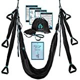 Yoga4You Aerial Yoga Swing Set - Yoga Hammock Swing - Trapeze Yoga Kit - 2 Extension Straps - Wide Flying Yoga Inversion Tool - Antigravity Ceiling Hanging Yoga Sling - Adult Kids Arial Toga