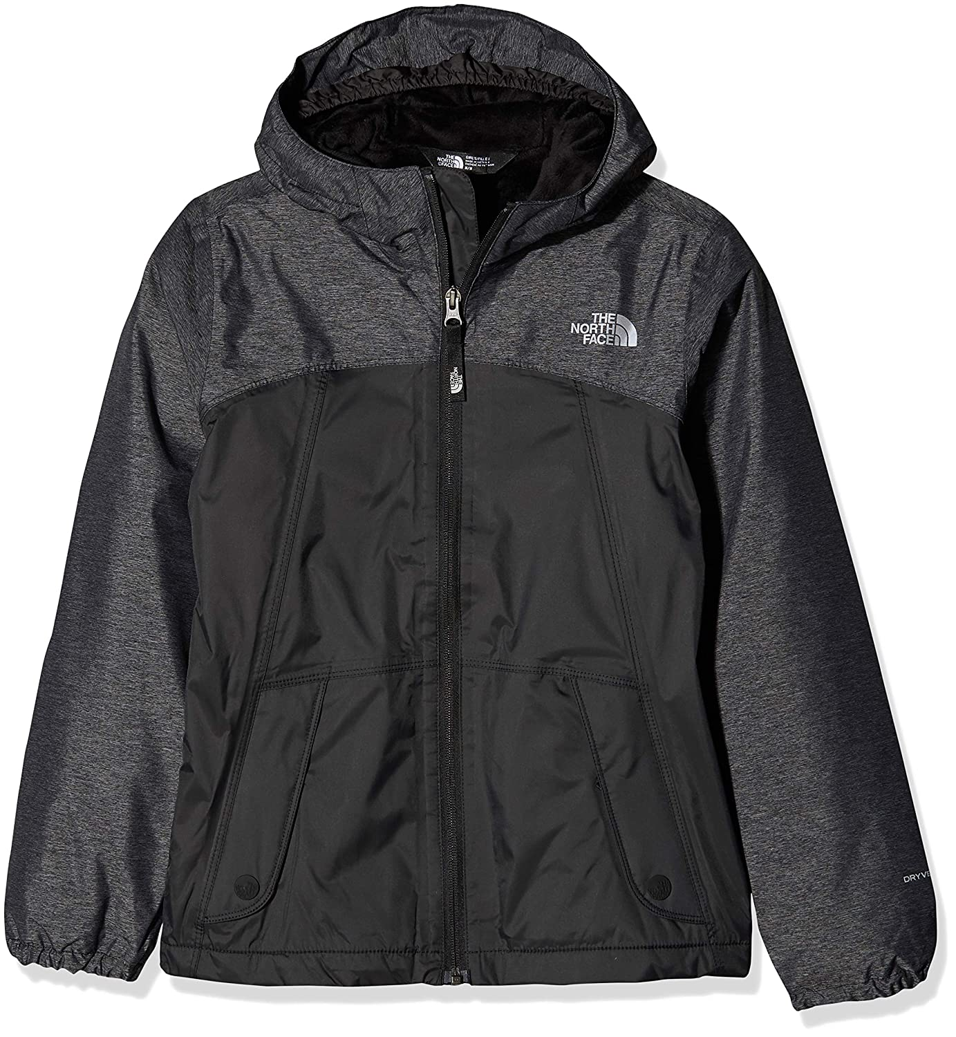 TALLA L. The North Face Kids TNF Chaqueta Warm Storm, Niñas, TNF Black, L