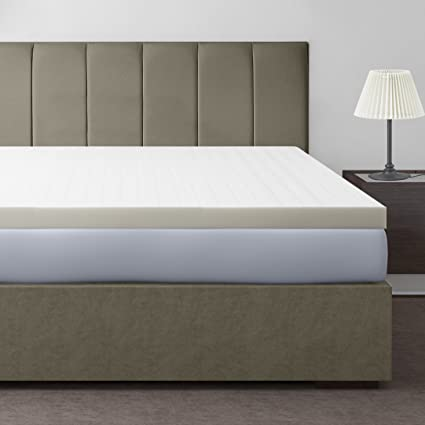 kitchen usa bed topper queen made dp pound visco in the thick gray memory home density com size inch pad amazon mattress foam elastic