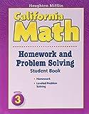 Houghton Mifflin Mathmatics: Homework And Problem Solving Book Consumable Level 3