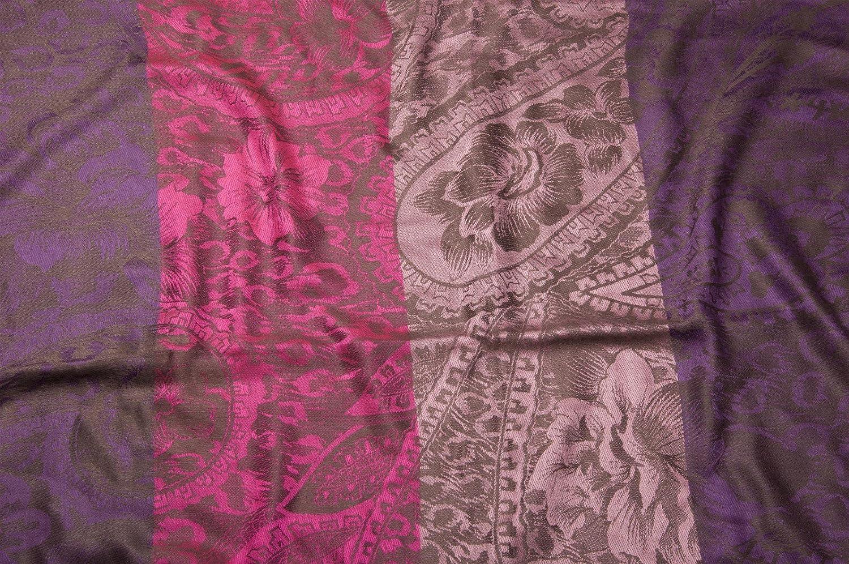 Damen 01018058 Loop Schlauchschal Schal styleBREAKER Blumen Hibiskus Bl/üten Paisley Muster warme und weiche Qualit/ät