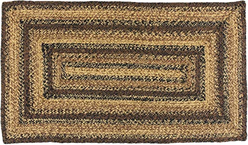 IHF Home Decor Cappuccino Rectangle Jute Braided Area Rug Floor Carpet 8' x 10'