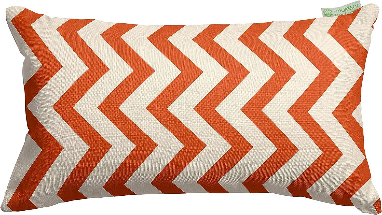 Majestic Home Goods Burnt Orange Chevron Indoor / Outdoor Small Throw Pillow 20