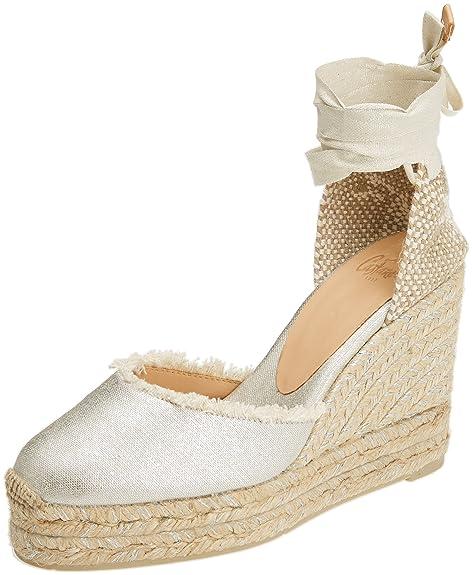 Castañer Canela8Edss18046, Alpargatas para Mujer, Plateado (Plata 3003), 38 EU: Amazon.es: Zapatos y complementos