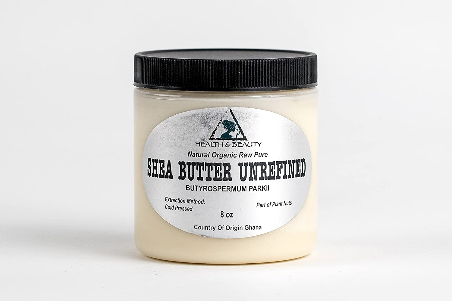 Shea Butter Unrefined Ivory Beige White Organic Natural Grade A Ghana Cold Pressed Raw Pure 8 oz, 237 ml H&B OILS CENTER Co.