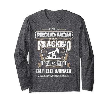 unisex oilfield christmas gift t shirt proud mom of oilfield worker 2xl dark heather
