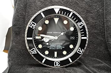 Dealer Wall Clock Submariner GMT Rolex style Black Amazoncouk