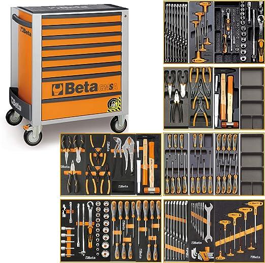 Beta C24SA - Carro de herramientas con sistema antivuelco y 191 piezas: Amazon.es: Hogar