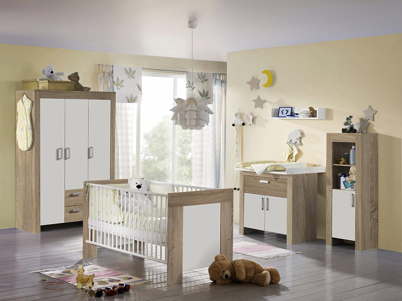 6tlg Babyzimmer Janne Kinderzimmer Schrank Bett Wickelkommode