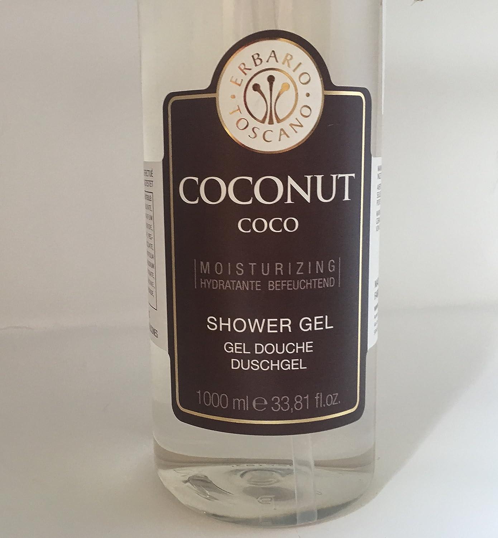 Erbario Toscano Coconut Moisturizing Shower Gel Large 34 fl oz Size