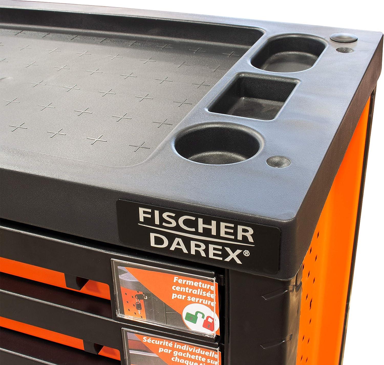0,8 mm//0,6 mm Fischer Darex 810403 Servante dAtelier 6 Tiroirs Noir