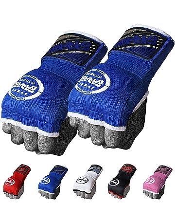 Krav Maga Boxing Gloves Hand Wraps Black 3.5m Bandages Cotton Muay Thai MMA