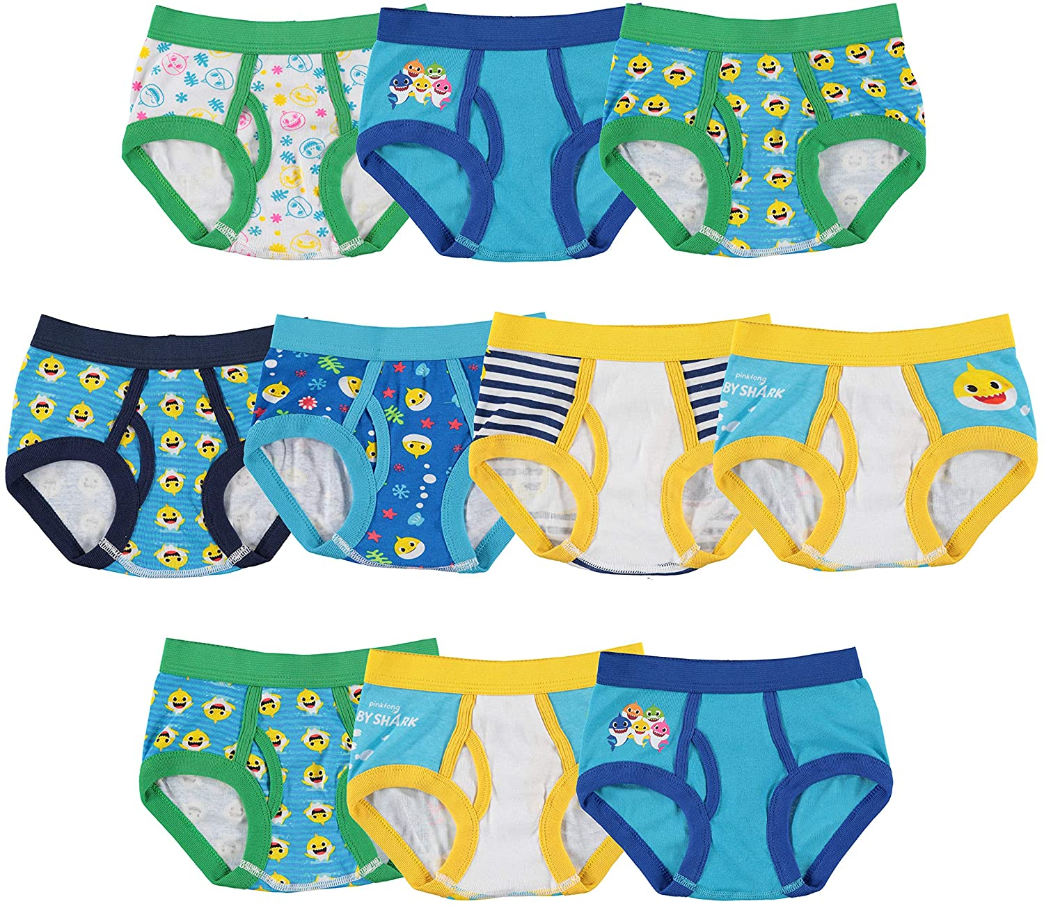 Toddler Boys Briefs 10 pack Size 2T-3T Comfort waistband Brand New in package