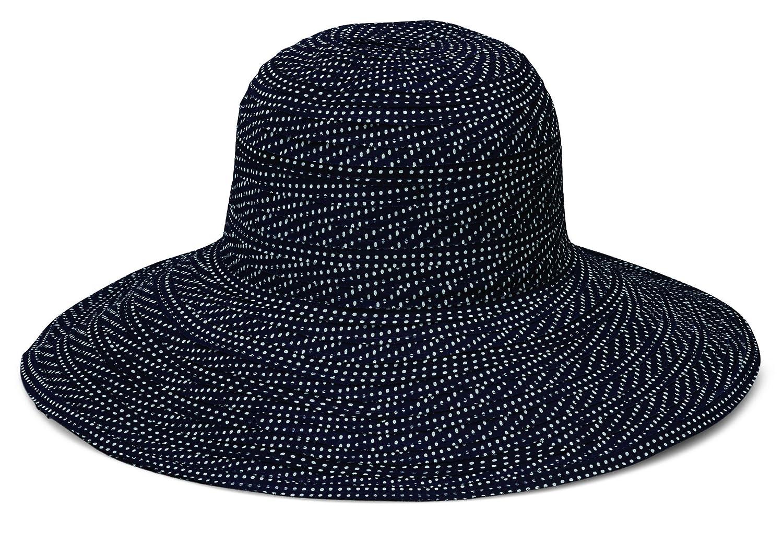 Wallaroo Hat Company Women s Scrunchie Sun Hat - Black White Dots ... 7229d2368ecd