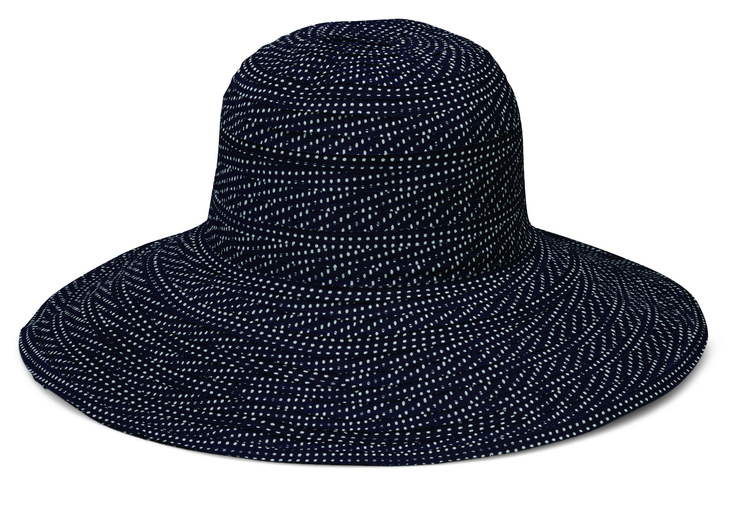 Wallaroo Hat Company Women's Scrunchie Sun Hat - Black/White Dots - UPF 50+, Ultra-Lightweight, Packable for Every Day, Designed in Australia.
