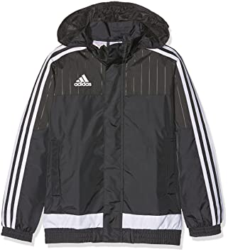 dea9933d03c6 adidas Tiro 15 Adult s Raincoat - Black - 12 Years  Amazon.co.uk ...