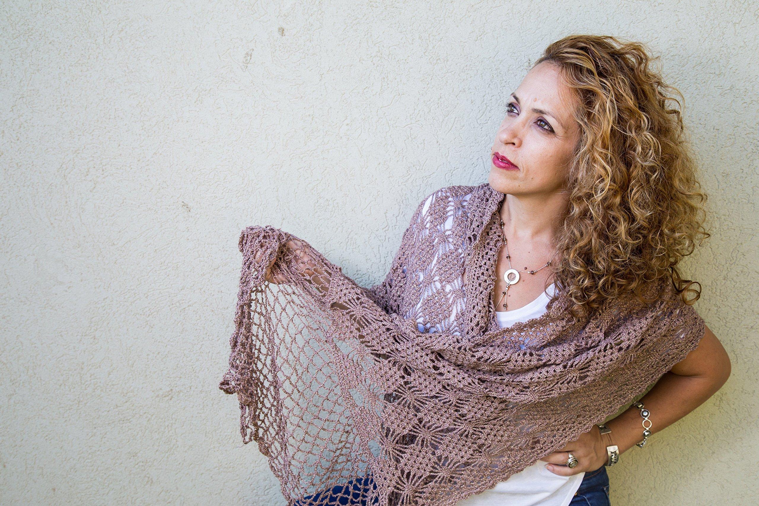 Women shawl brown cotton