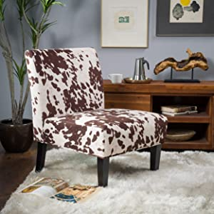 Christopher Knight Home 297287 Kalee Dining Chair, Cow Print