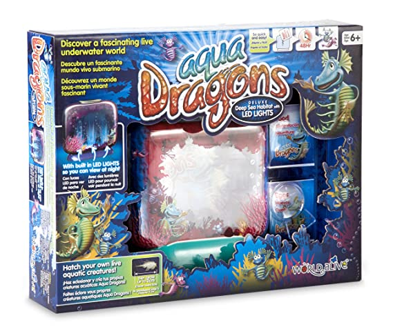 Aqua Dragons Deluxe - Pecera para Dragones de Agua- Mundo Submarino Juguete Educativo, (World Alive W4003): Amazon.es: Juguetes y juegos