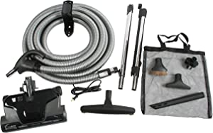 Cen-Tec Systems Central Vacuum Electric Powerhead Kit, Pigtail Hose, Black
