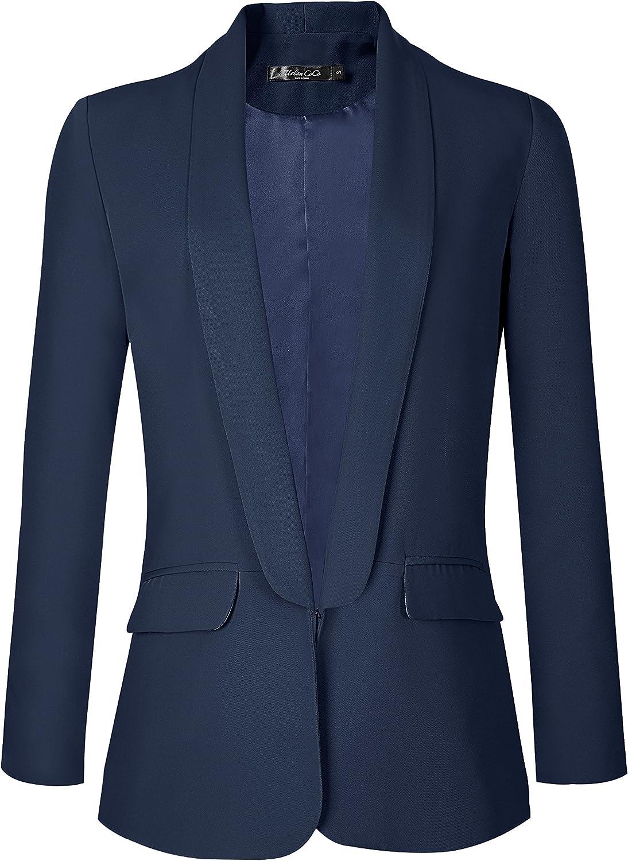 Urban CoCo Women's Office Blazer Jacket Open Front