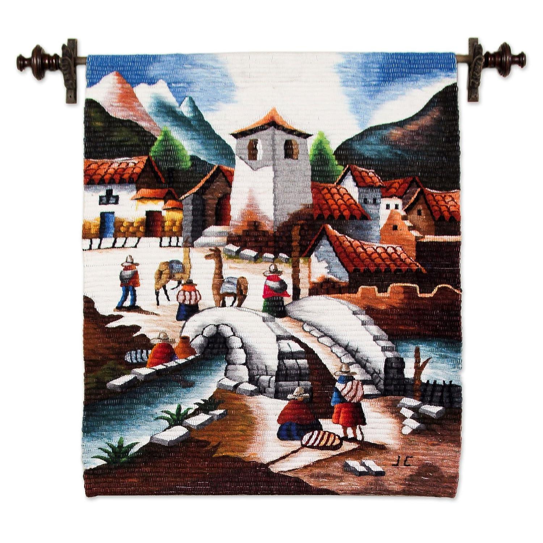 NOVICA 45655 Bridge of Entry Wool Tapestry
