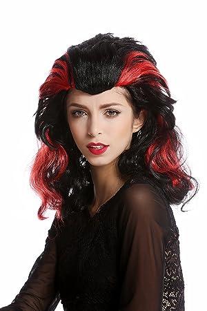 WIG ME UP ® - 90729-ZA103+ZA13 Peluca mujer Halloween Carnaval Morgana largo