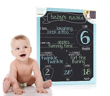 Pearhead Babys Monthly Milestone Photo Prop Chalkboard Black