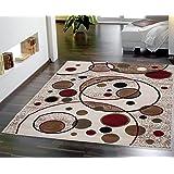 sweet home stores clifton collection modern circles design area rug