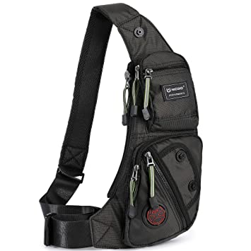 Amazon.com   Nicgid Sling Bag Chest Shoulder Backpack Fanny Pack Crossbody Bags  for Men(Black)   Casual Daypacks 98052232a1