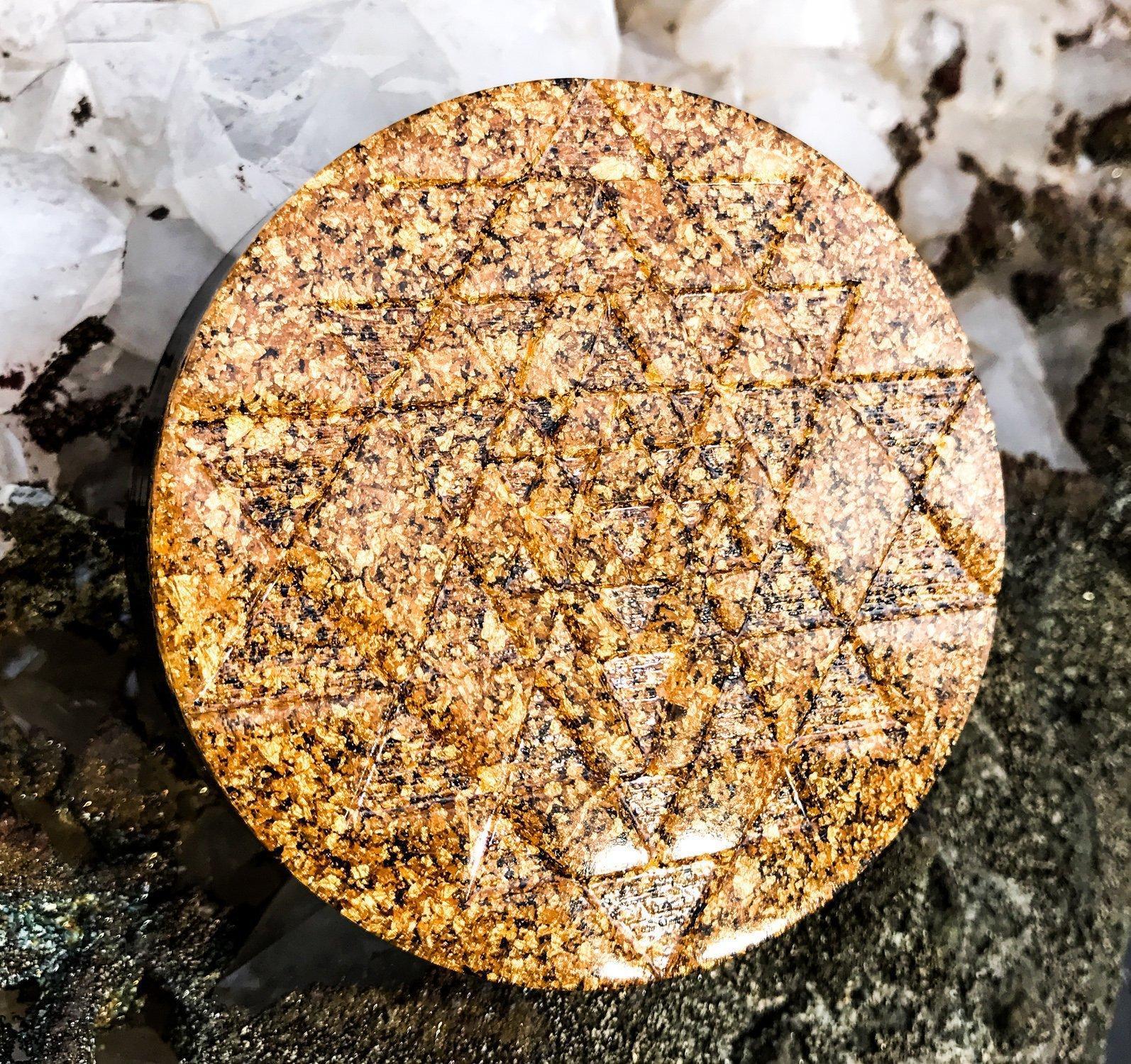 Sri Yantra Orgonite Plate ~ Orgone Generator