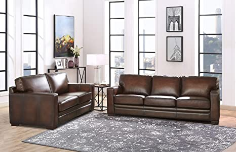 Phenomenal Hydeline Dillon 100 Leather Sofa Set Sofa Loveseat Brown Squirreltailoven Fun Painted Chair Ideas Images Squirreltailovenorg