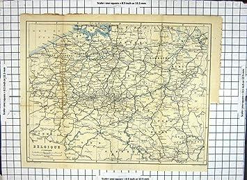 Carte Belgique Mons.Carte Antique Belgique Belgique Bruxelles Mons Liege Anvers Euorpe