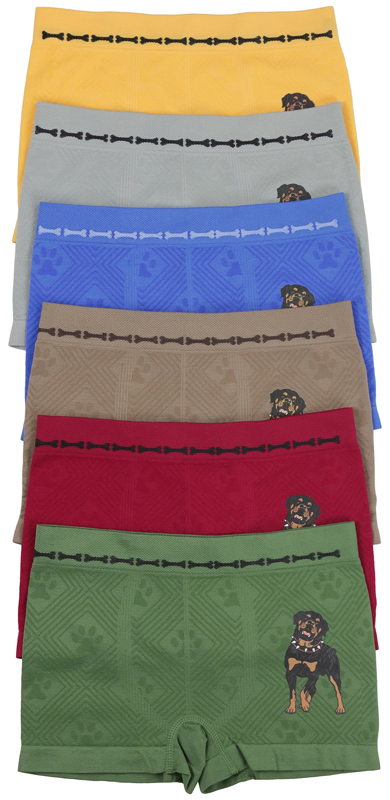ToBeInStyle Boy's 6 Pack Seamless Dog and Bones - L