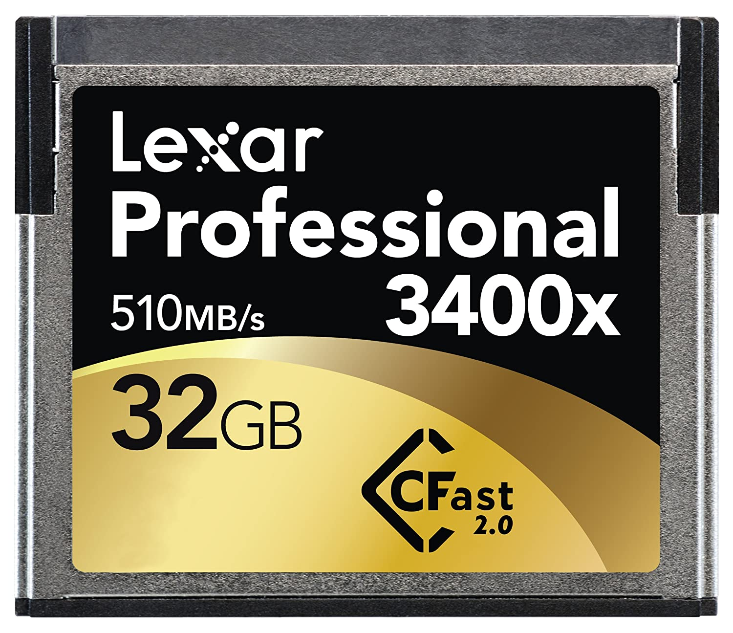 Lexar Professional 3400x 32GB CFast 2.0 Card (Up to 510MB/s Read) w/Image Rescue 5 Software LC32GCRBNA3400 LEXAR MEDIA INC