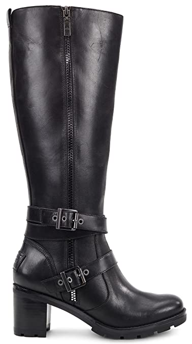 54a8da67ad9 UGG Women s Lana Black Leather Boot Size 6