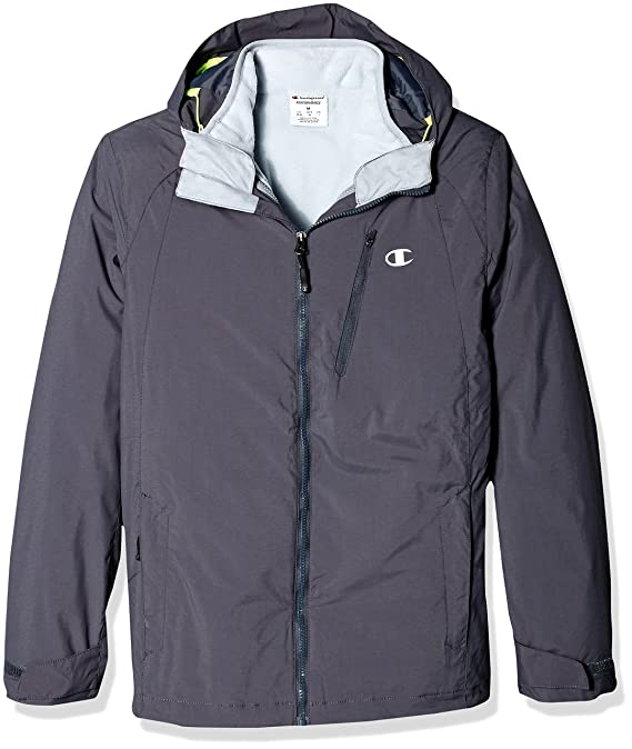 8d2f28598bc18 Champion Men's Technical Ripstop with Puffy 3-in-1 Winter Jacket at Amazon  Men's Clothing store: