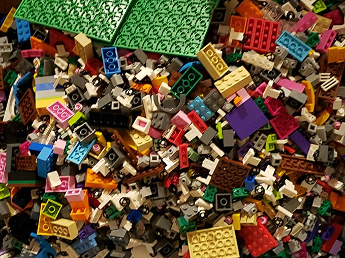 Lego 1 LBS Bulk Lot Of Genuine Rare Pieces Random Assorted Blocks Mini Figures!