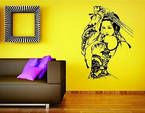 Amazon.com: Samurai Girl Wall Mural Vinyl Decal Sticker ...