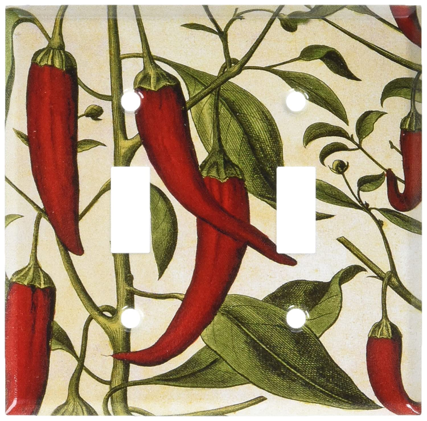 Art Plates Single Toggle Red Chile Peppers Switch Plate