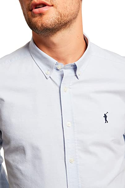 POLO CLUB Camisa Oxford con Logo Bordado
