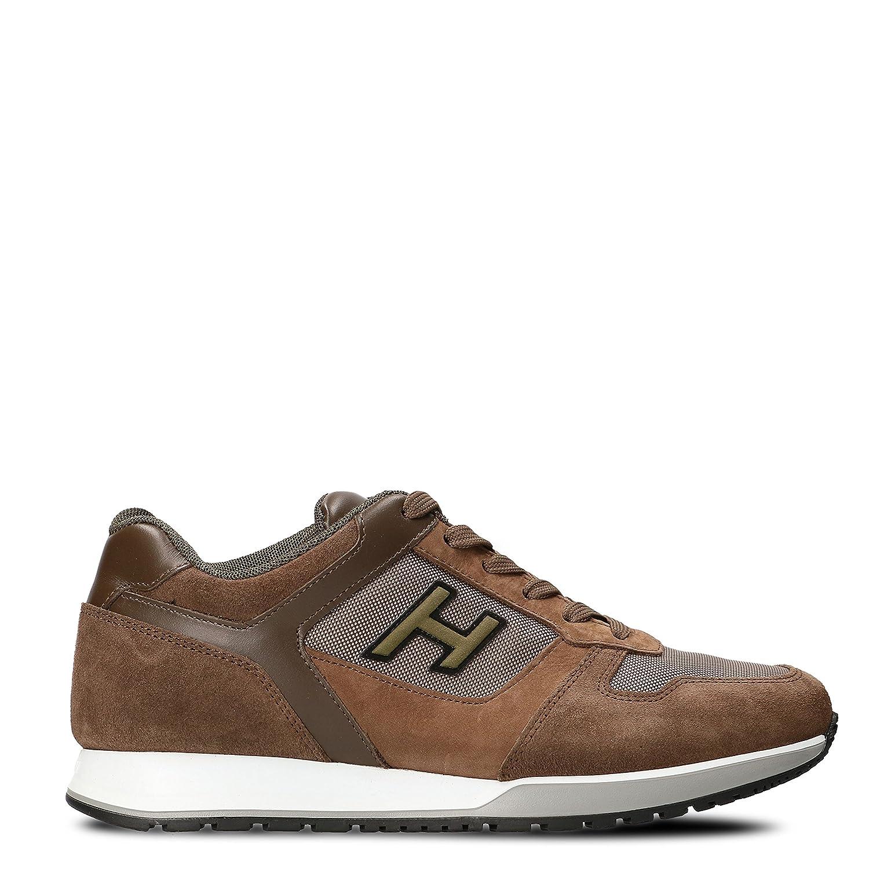 Hogan メンズ HXM3210Y860HIS890Z ブラウン セーム 運動靴 B075VCLKSH