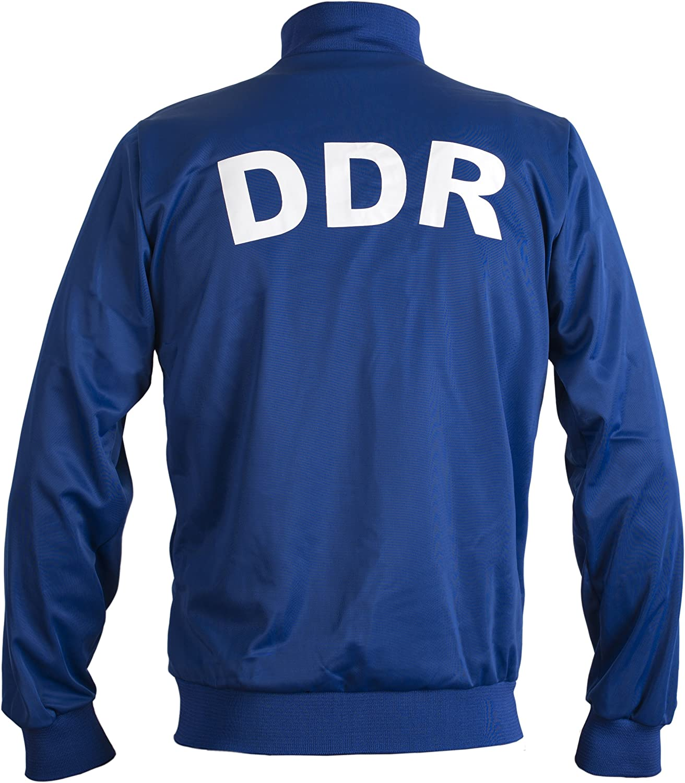 JL Sport Deutsche Demokratische Republik Geria EST DDR 1970 retr/ò Calcio Giacca Tuta Cerniera