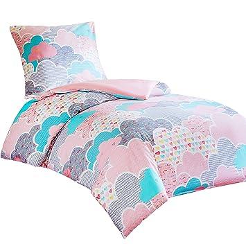Bettwäsche 135x200cm 100% Baumwolle Renforce Bettgarnitur Bettbezug Viele Muster Bettwäsche