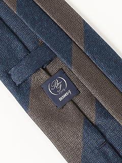 Silk Stripe Tie 21-44-6001-380: Dark Brown