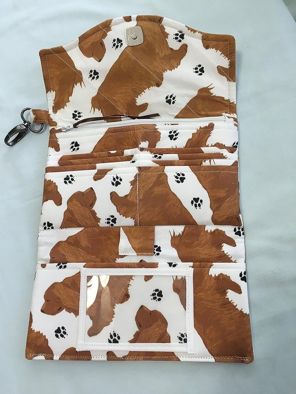 Sussex Spaniel//Wristlet//,Billfold//Wallet//Cross-Body//Dog Lovers//Clutch
